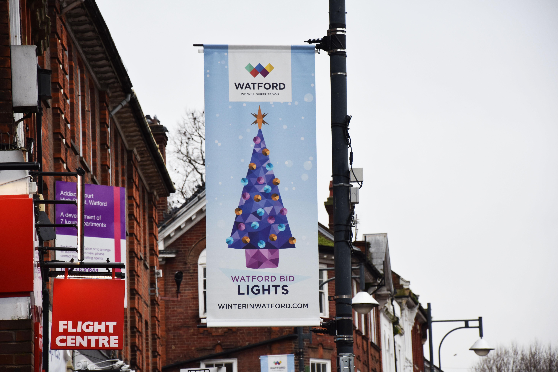 Watford High Street Watford BID Xmas Banners 2